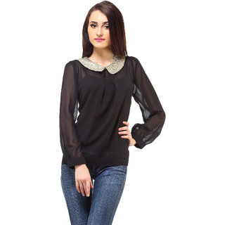 Black Sequence Top