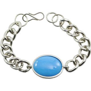 """ALPHA MAN """"SuperCool Star Blue Ocean"""" Silver-Steel Bracelet"""