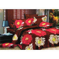 Shopping Edge Double Bedsheet With 2 Pillow Cover Bs036 - 6605718