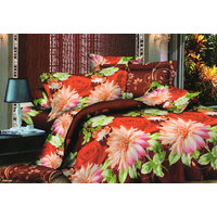 Shopping Edge Double Bedsheet With 2 Pillow Cover Bs038