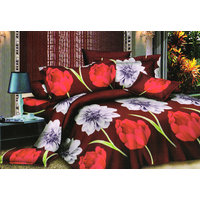Shopping Edge Double Bedsheet With 2 Pillow Cover Bs042