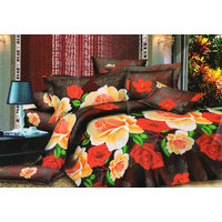 Shopping Edge Double Bedsheet With 2 Pillow Cover Bs044