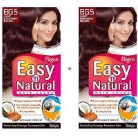 Bigen Easy 'n Natural Hair Color BG5 Light Burgundy Brown Pack Of 2 - 6611810