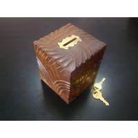 Money Bank Wooden Box Kids Piggy Bank Gift Item Home Decor Saving Box Antique
