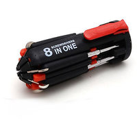 8 In 1 Screwdriver Magnetic Head Tool With 6 Led Torch