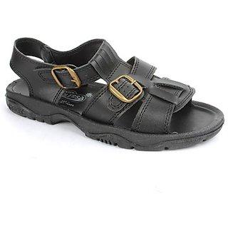 Coolers Mens Black Casual Sandal