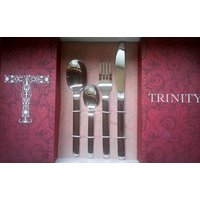 Trinity Solo 24 Pcs Cutlery Set With 6 Spoon, 6 Fork, 6 Tea Spoon, 6 Knife