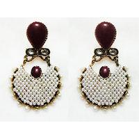 MB Designer Earring Metal, Alloy Danglers & Drops Hoops MB9005