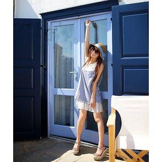 Honeymoon Special Offer Two Piece Chiffon Sleeveless Dress Grey...