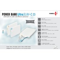 Power+Ultra Slim Power Bank (with Built-in Cable And IPhone Connector) (2,500 MA