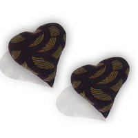 Cushion Fillers Set Of 2 Silk Cotton  With Velvet Cover-Dark Brown Color Heart