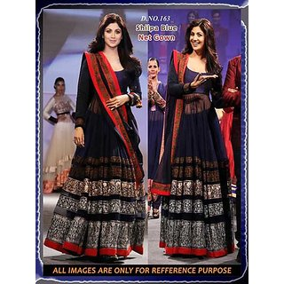 BOLLYWOOD Dress Of Shilpa Sheety Navy Blue