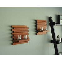 Wood Ocean Wooden Wall Bracket With Elegant Finish (Set Of 2)