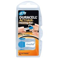 Duracell Easytab Hearing Aid Batteries Size 675 - 60pcs (10 Packs)