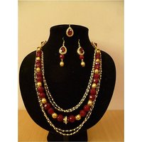 Ruda Bridal Magic – Multilayer Neckpiece With 2 Side Kundan Pendants  Nls0067