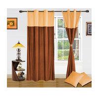 Homesazawat Beautiful Set Of 2 Eyelet Door Curtain (4x7ft) - 6766734