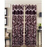 Homesazawat Beautiful Set Of 2 Eyelet Door Curtain(4x7ft) - 6767052
