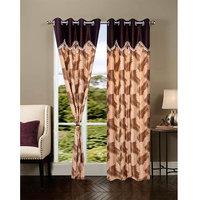 Homesazawat Beautiful Set Of 2 Eyelet Door Curtain(4x7ft) - 6767156