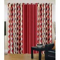Homesazawat Beautiful Set Of 3 Eyelet Door Curtain(4x7ft) - 6768024
