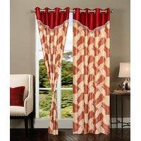 Homesazawat Beautiful Set Of 2 Eyelet Door Curtain(4x7ft) - 6768378