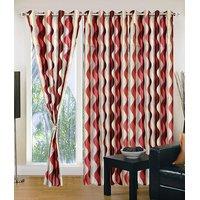 Homesazawat Beautiful Set Of 3 Eyelet Door Curtain(4x7ft) - 6769150