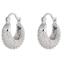 Young  & Forever Silver  Plated Hoop Earrings  For Women By CrazeeMania