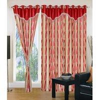 Homesazawat Beautiful Set Of 3 Eyelet Door Curtain(4x7ft) - 6770640