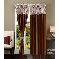 Homesazawat Beautiful Set Of 2 Eyelet Door Curtain(4x7ft) - 6770710