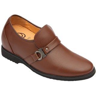 Dvano Chocolate Brown Slip-On Formal Elevator Shoes