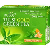 Kudos Tulsi Gold Green Tea Orange & Mint 2gX12 Tea Bags