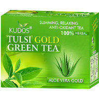 Kudos Tulsi Gold Green Tea Aloevera Gold 2gX12 Tea Bags