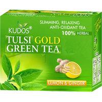 Kudos Tulsi Gold Green Tea Lemon & Ginger 2gX12 Tea Bags