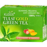 Kudos Tulsi Gold Green Tea Strawberry & Mango 2gX12 Tea Bags