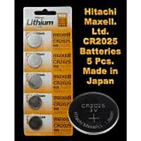 CR2025 Maxell Battery 5 Pieces. 3V Micro Lithium Button Coin Cell Made In Japan