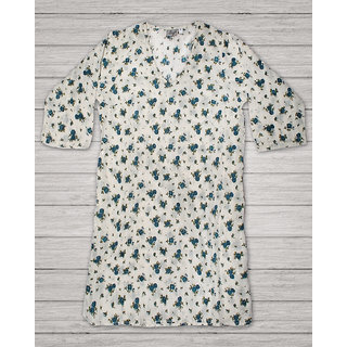 Small Flower Printed Classic Cotton Tunic
