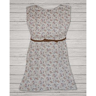 Small Flowers Printed Shift Tunic