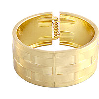 Young & Forever  Designer Gold Cuff Bracelet For Women By CrazeeMania