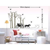 """Home Decor Wall Stickers """"Horse Chariot"""" Decorations For Home"""