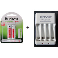UNIROSS 2100 Mah HYBRIO 2ps Rechargeable Battery With ENVIE CHARGER