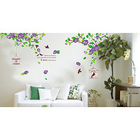 """Home Decor Wall Stickers  """"Hibiscus Flowers"""" Decorations For Home"""