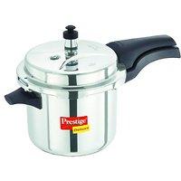 Prestige Deluxe Plus Stainless Steel Pressure Cooker, 3.5 Litres (20004)