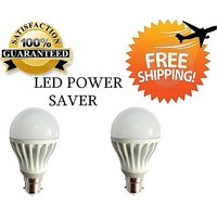 7 Watt LED BULB 7W BRIGHT WHITE LIGHT Set OF 2 Pcs