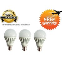 7 Watt LED BULB 7W BRIGHT WHITE LIGHT Set OF 3 Pcs