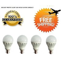 7 Watt LED BULB 7W BRIGHT WHITE LIGHT Set OF 4 Pcs