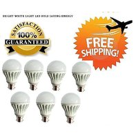 7 Watt LED BULB 7W BRIGHT WHITE LIGHT Set OF 7 Pcs