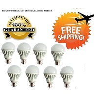 7 Watt LED BULB 7W BRIGHT WHITE LIGHT Set OF 8 Pcs
