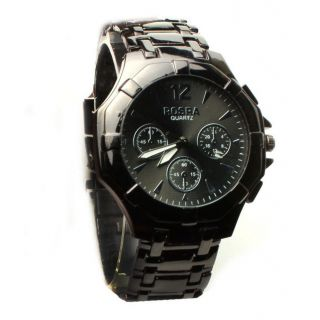 Stylish Rosra Men's Analog Watch Concered Black