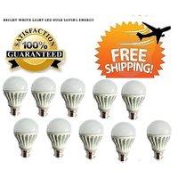 7 Watt LED Bulb Set OF 10 Pcs High Power Cool Bright Light
