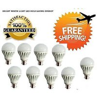3 Watt LED BULB 3W BRIGHT WHITE LIGHT Set OF 9 Pcs (A)