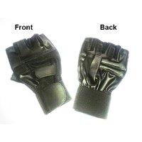 Leather Gym Glove With Long Wrist Wrap - 6854434